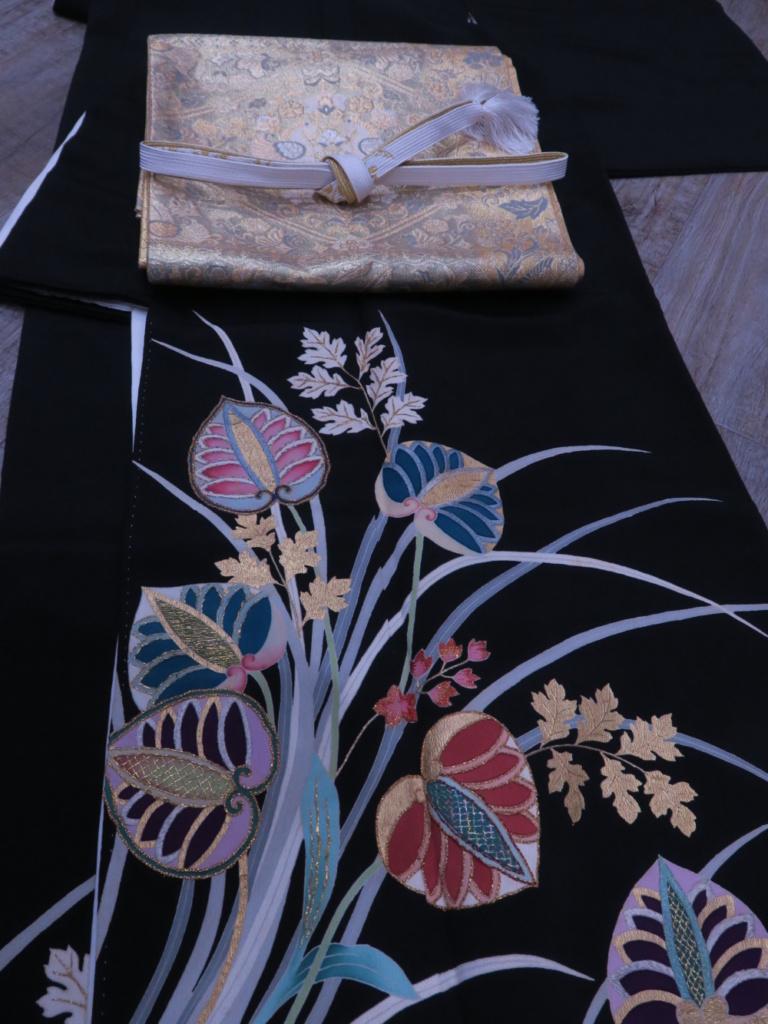 <レンタルきもの>結婚式へ・黒留袖コーディネート
