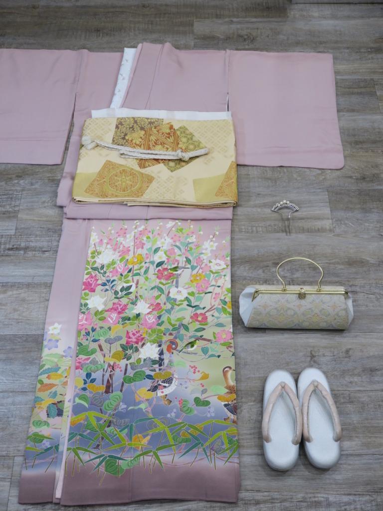 <レンタルきもの>結婚式へ・色留袖コーディネート