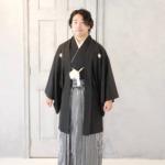 <写真撮影・レンタルきもの>成人式 黒紋付き袴