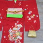 <レンタルきもの>七五三・7歳女の子 赤色着物